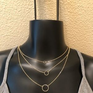 Triple strand Gold Plated Necklace New